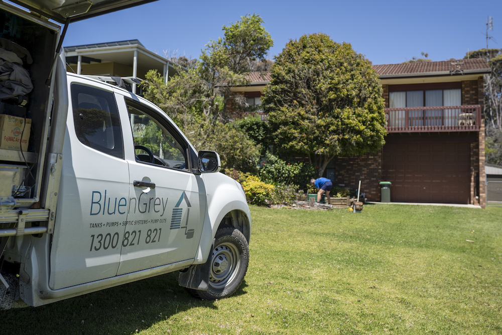 BluenGrey Providing Pre-Purchase Inspection for an AWTS Septic System