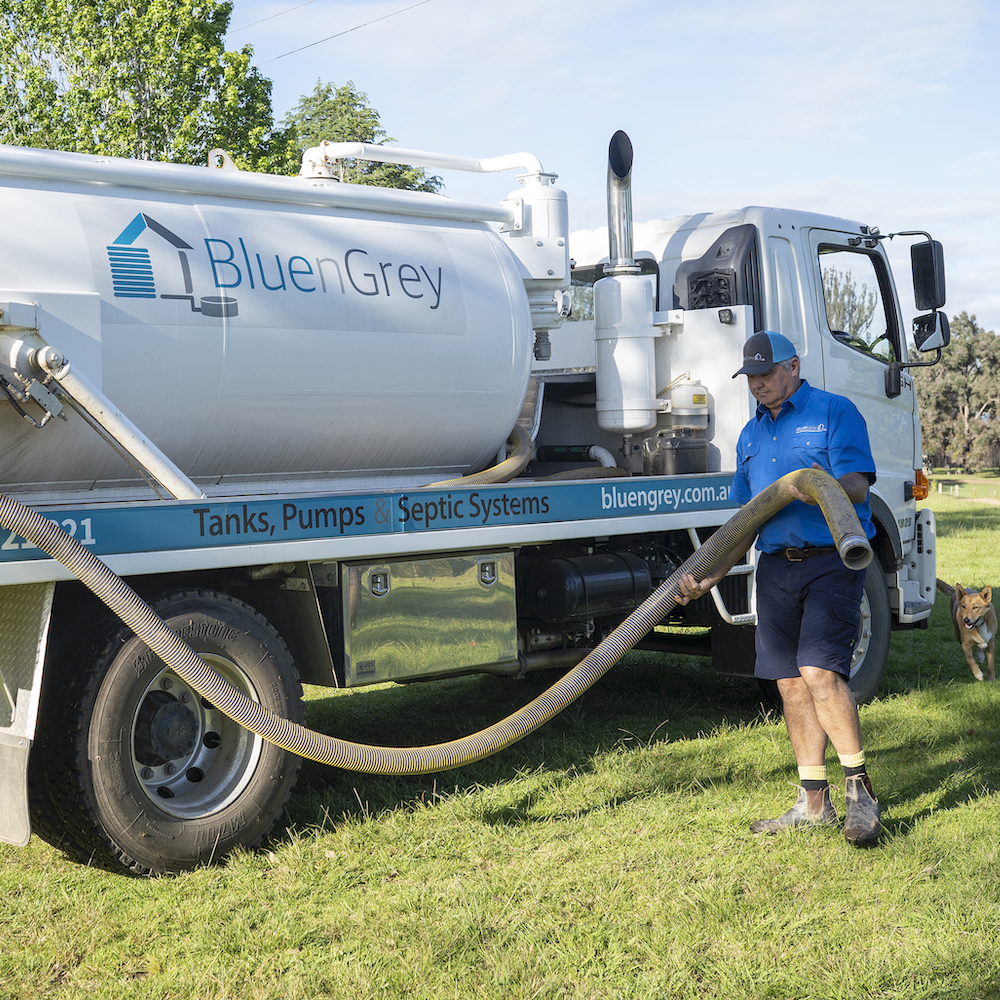 BluenGrey Specialist Providing A Septic Tank AWTS Pumpout