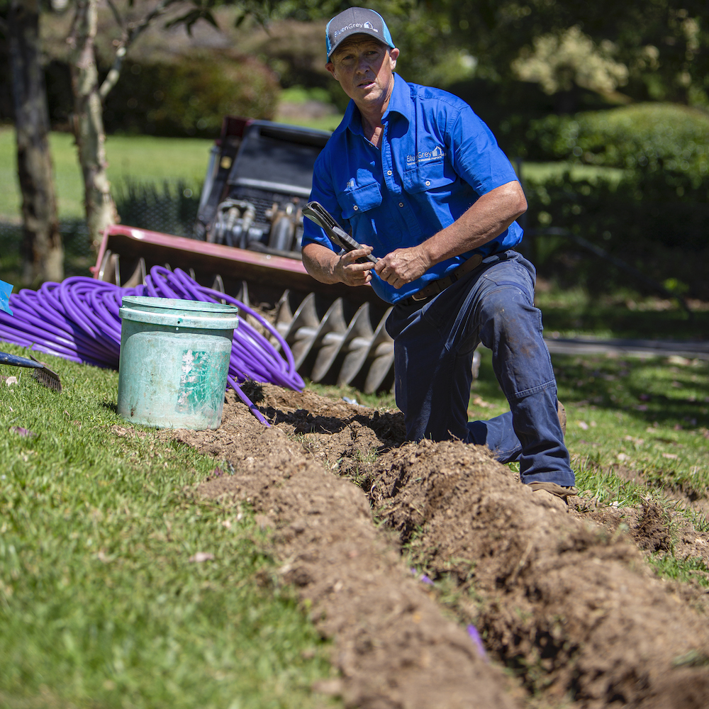 BluenGrey Septic Trenches Irrigation NSW