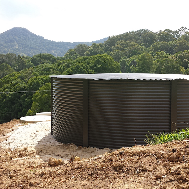 Steel Rain Water Tank, South Coast NSW